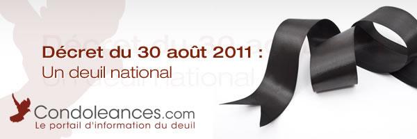 Décret : Deuil National Août 2011