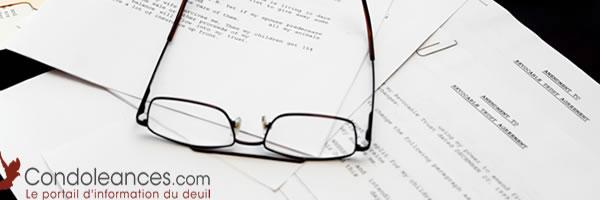 Décès : formalités administratives à suivre en cas de décès.