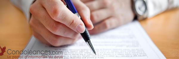 Lettres types pour les démarches administratives de deuil.