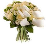 Fleurs deuil : bouquet pour obsèques.