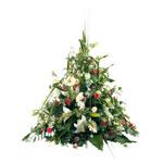 Fleurs deuil : coussin pour obsèques.