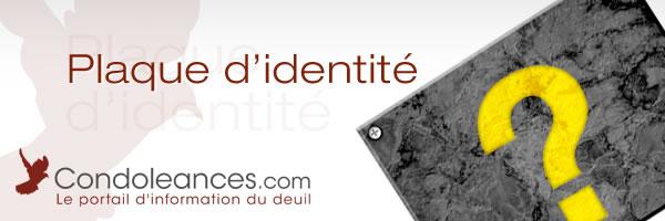 Plaque d'identité