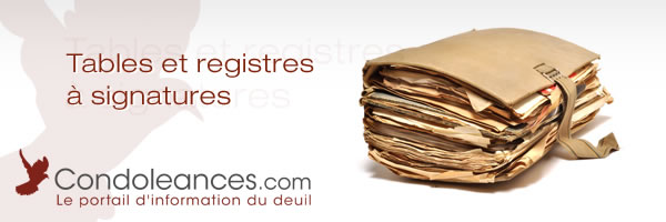 Tables et registres à signatures