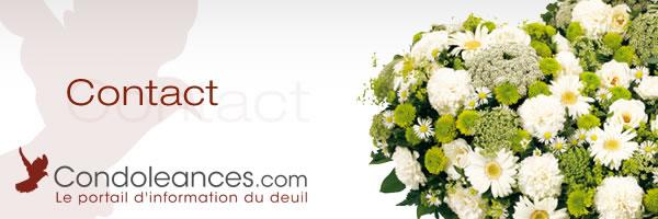 Contacter le portail d'info du deuil et des condoléances.
