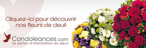 boutique de fleurs de deuil